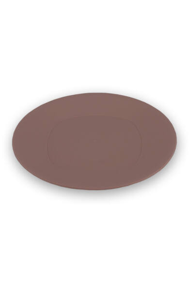 Műanyag, kerek, lapos tányér 24 cm, púder rózsaszín